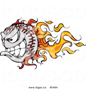 royalty-free-vector-of-a-logo-of-a-competitive-flaming-baseball-by-chromaco-5464